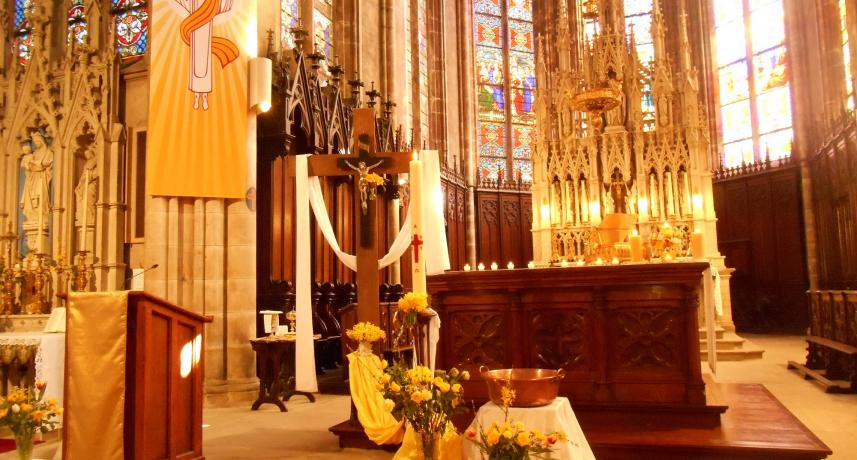 Choeur de l'église de Plombières pour Pâques