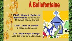 Affiche fête de la paroisse Notre-Dame des Sources 2019