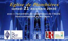 Concert le 21 décembre église de Plombières
