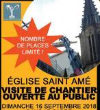 Visite de chantier de l'église de Plombières journées du patrimoine