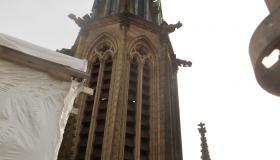 Chantier nouvelle toiture de l'église de Plombières