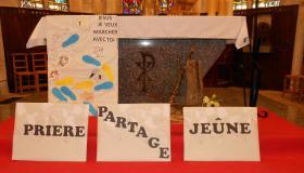 Entrée en Carême 2021 église de Bellefontaine