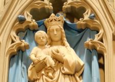 Vierge Marie autel secondaire église de Plombières