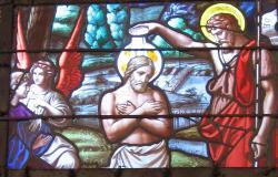 Vitrail du choeur église de Ruaux
