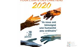 Affiche semaine pour l'unité des chrétiens 2020