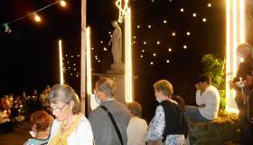 Installation pèlerins procession 2021
