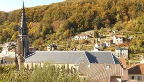La nouvelle toiture de l'église St. Amé de Plombières-les-Bains