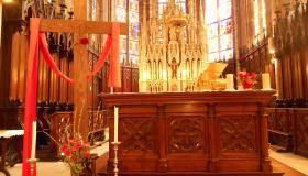 Choeur de l'église de Plombières pour le dimanche des Rameaux 2021