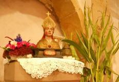 Buste de St. Blaise patron de l'église de Bellefontaine
