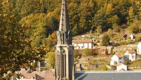 Toiture de l'église de Plombières en ardoise